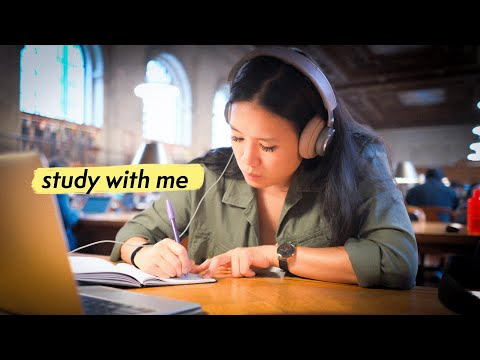 STUDY WITH ME At The Library (with Music)