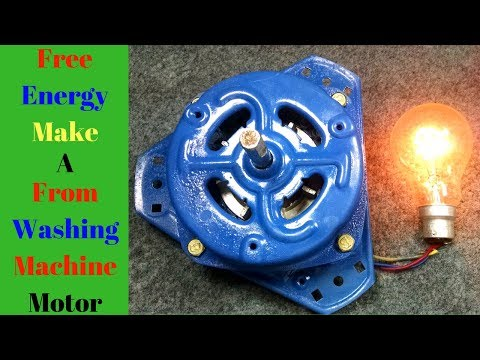 Free Energy _ Motor Converted To a Generator(Alternator) Fro