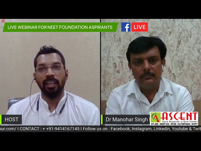 ASCENT CAREER POINT Udaipur Live Webinar for NEET Foundation Aspirants