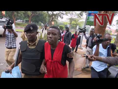 Makerere University students protest in Kampala