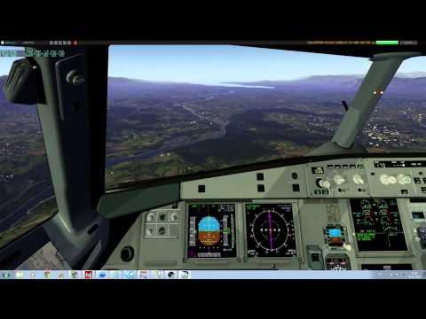 X-Plane 10 A321 beautiful approach into Geneva - 1 / 2