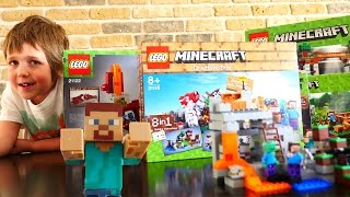 Майнкрафт ЛЕГО. Как построить шахту? Адриан и Стив. Подарки на новый год(Стив и 6 наборов Minecarft LEGO на столе у Адриана. Каждый набор ЛЕГО - это новый мир... креативный мир. Но давай проте..., 2015-12-21T06:55:08.000Z)