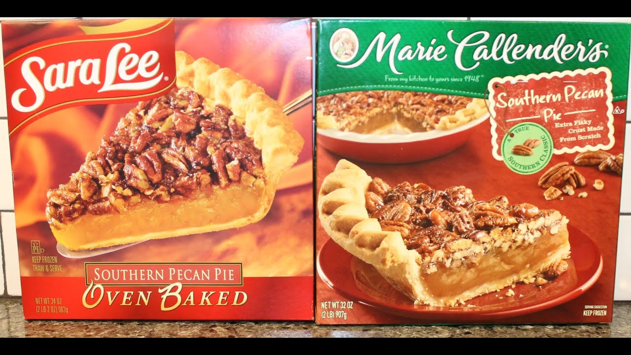 Sara Lee Southern Pecan Pie Vs Marie Callender S Review