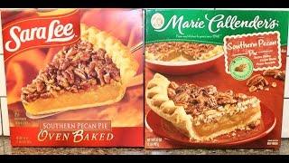 Sara Lee Southern Pecan Pie Vs Marie Callender's Southern Pecan Pie Review