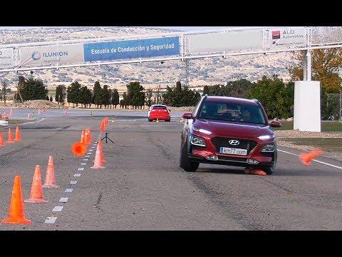 Hyundai Kona 2018 Maniobra de esquiva moose test y eslalon km77.com