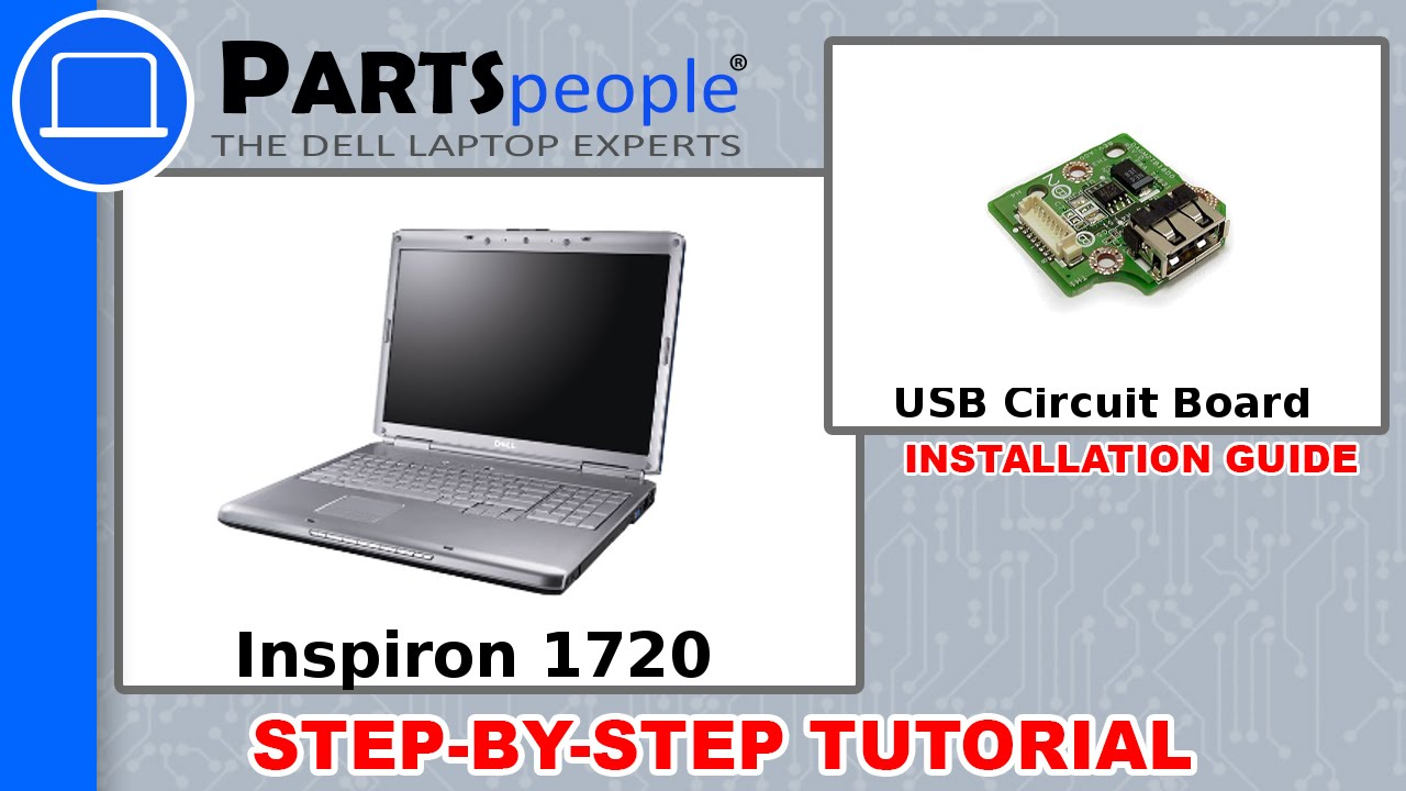 Dell Inspiron 1720 Usb Circuit Board Replacement Video Tutorial