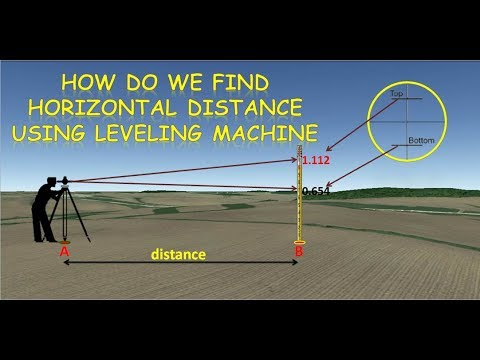 how to find Distance by leveling machine, theodolite and tachometer.