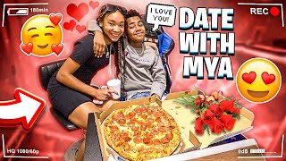 BAM AND MYA FINALLY WENT ON A DATE! (HE KISSED HER)
