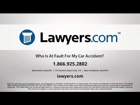 If You Are Responsible for a Car Accident - Lawyers com