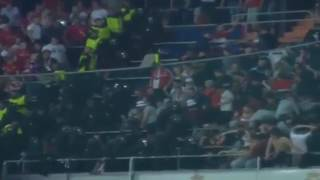 Bayern Munich fans clash with Spanish police as violence