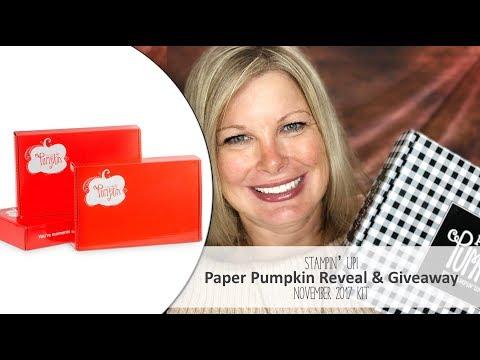 *Spoiler Alert* November 2017 Paper Pumpkin Kit Reveal and Giveaway
