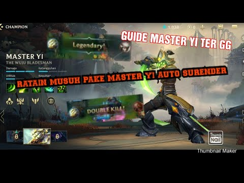 Part 1 Gameplay Champion Master Yi Assasins Terbaik Di Game League Of Legends Wild Rift Youtube