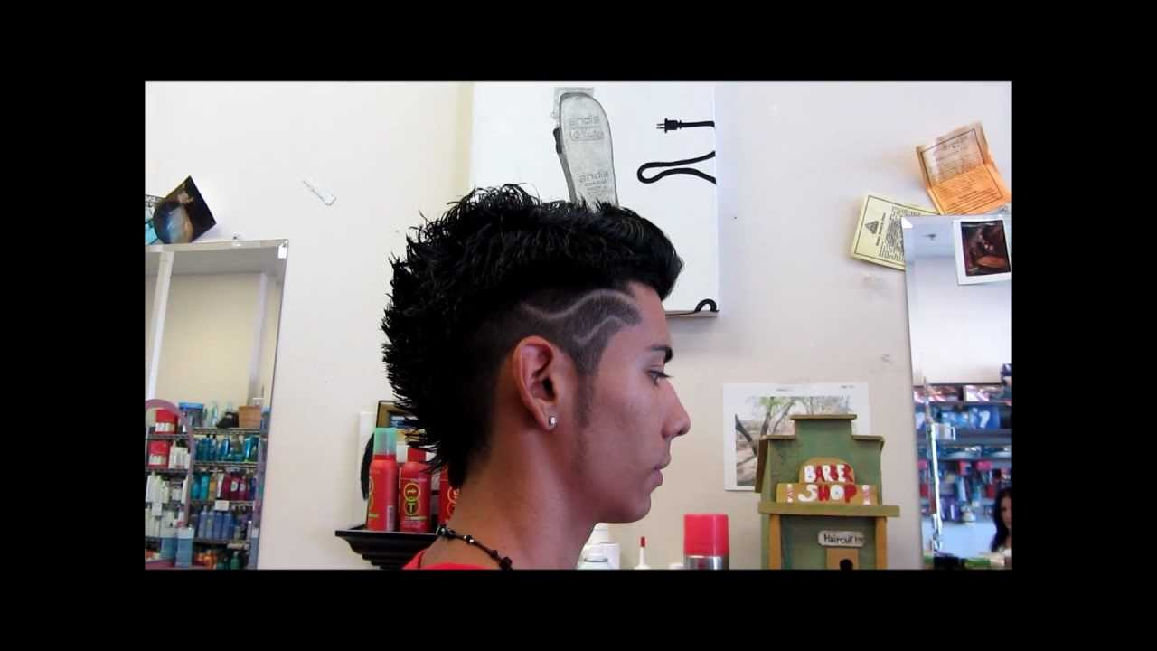 Faded Mohawk Spikey Frohawk Haircut Design Video Youtube