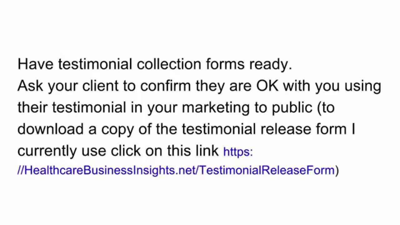 Patient Testimonials - Health Practice Marketing Tutorial - Lesson ...