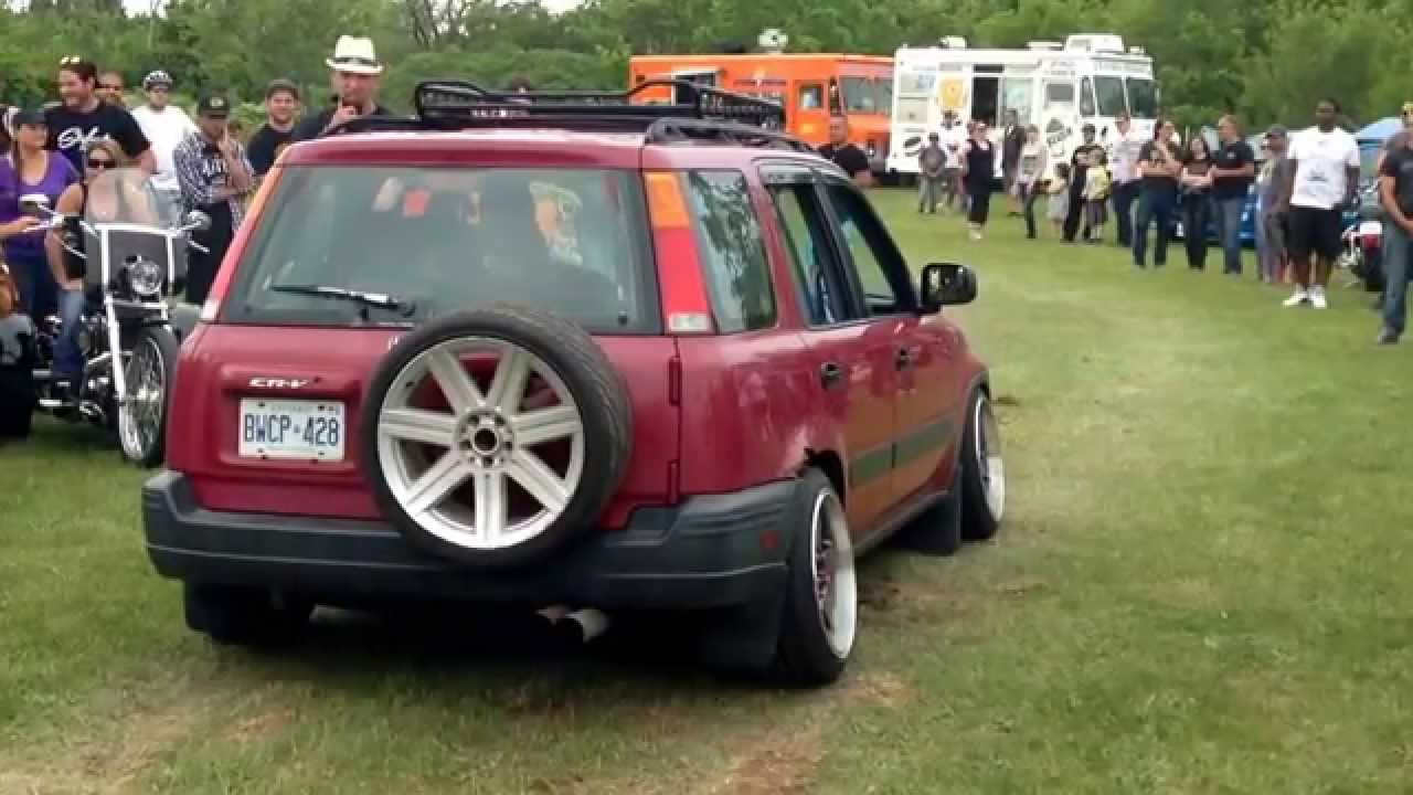 honda crv lowered straight pipe exhaust youtube