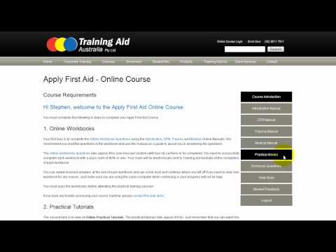 Apply First Aid online course introduction