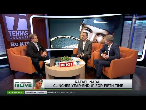 Tennis Channel Live: Rafael Nadal Clinches 2019 ATP Year End World No.1