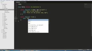 Codeigniter Tutorial for beginners - 4 - Creating Controller
