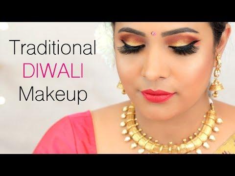 Traditional DIWALI Makeup Tutorial (Hindi) - Indian Festival Look for Beginners   Shruti Arjun Anand