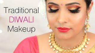 Traditional DIWALI Makeup Tutorial (Hindi) Indian Festival Look for Beginners | Shruti Arjun Anand