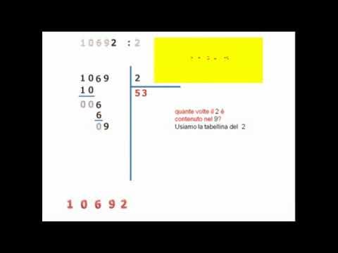 divisione con una cifra al divisore