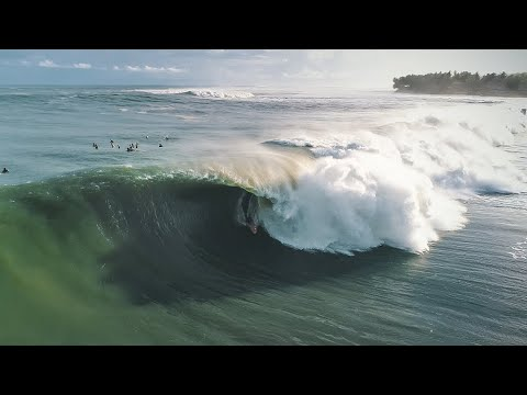 An Incredible Drone Edit of Nias During the Historic Swell of July, 2018 | SURFER: Amp Sessions