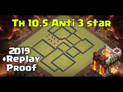 Clash Of Clans Ll New War Base Th 10.5 Ll Anti 3 Star 2019 Replay Proof