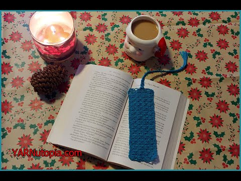 How to Crochet Tutorial: Lace Shell Bookmark by YARNutopia thumbnail