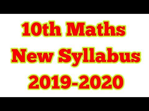 10th Maths New Syllabus 2019-2020