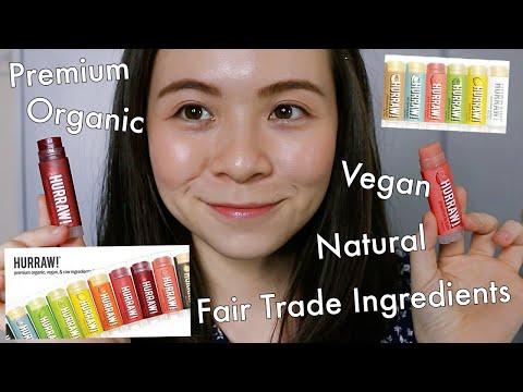 HURRAW! Best Natural & Organic Lipbalm - Clear & Tinted \\ JQLeeJQ