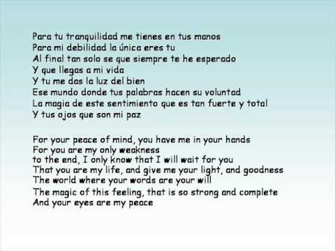 Yo Tel Amo - super sweet song! (spanish/english)