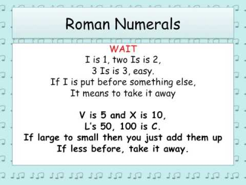 Roman Numerals Song