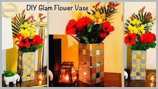 Wow!! Unique & Glam Flower Vase  gadac diy  Home Decorating Ideas  newspaper craft ideas  diy crafts