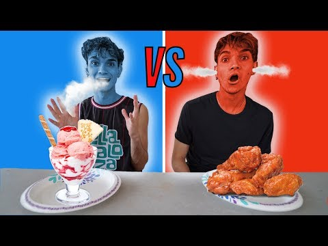 EATING ONLY HOT Vs COLD FOOD FOR 24 HOURS!