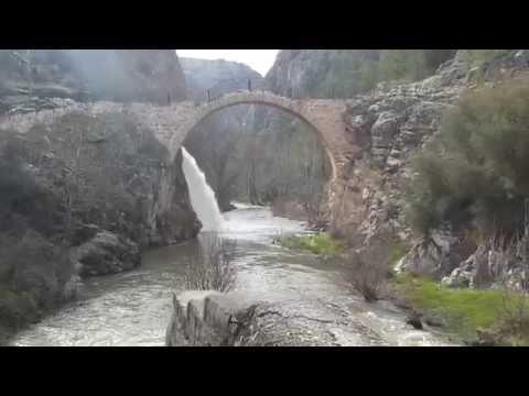uşak karahallı tarihi clandras köprüsü