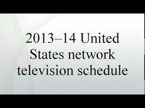 2013--14 United States network television schedule