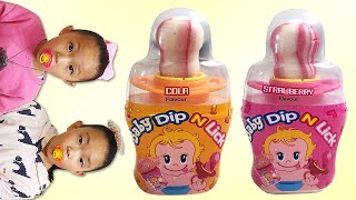 Baby bottle Lollipop MUKBANG |…