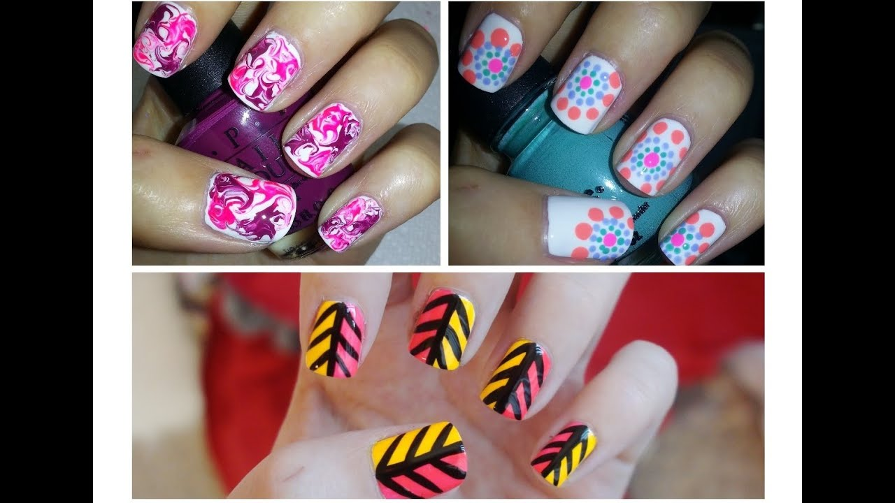 Easy Nail Art For Beginners 3 Youtube