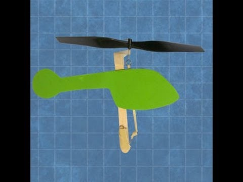 Rubberband Powered Helicopter Youtube