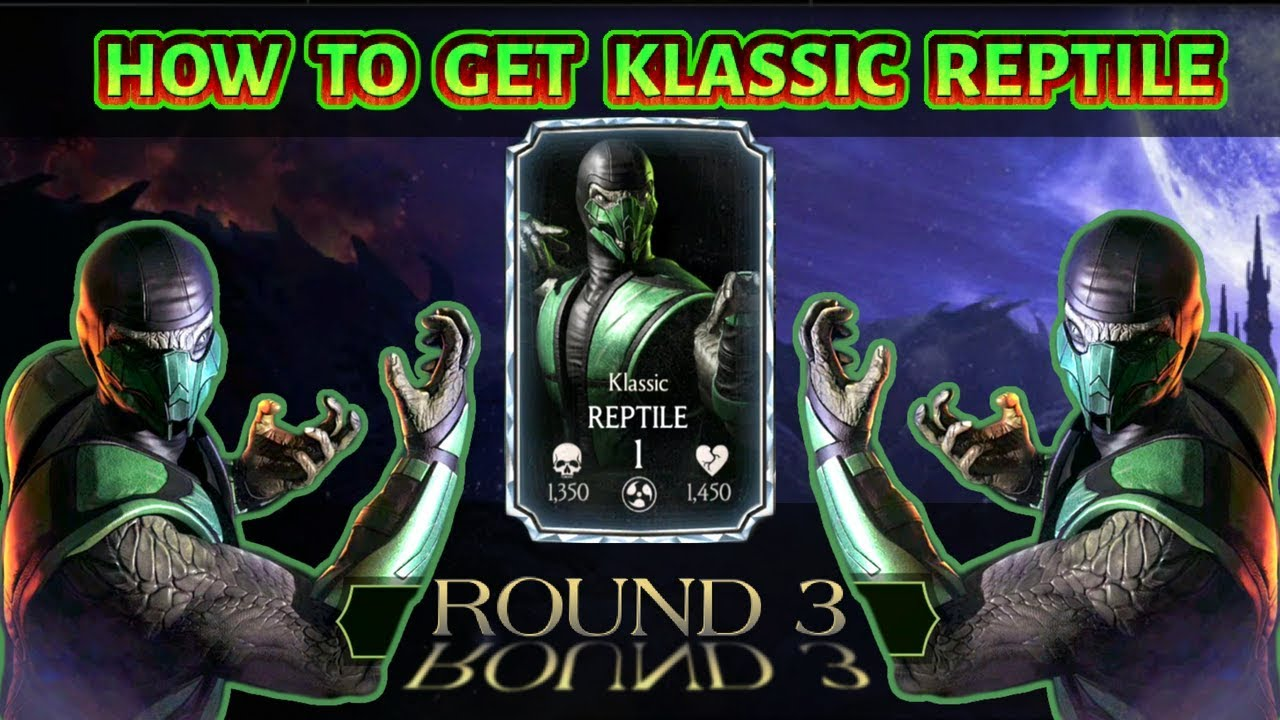 MKX Mobile  How To Get Klassic Reptile from Quest Mode Round 3 & Quest Mode  Hint for Klassic Reptile