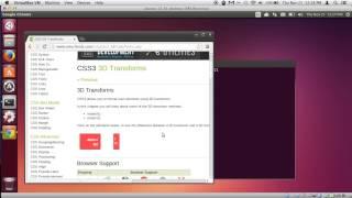 chrome ubuntu bug demonstration - 3d transforms make viewport always on top