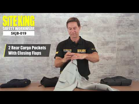 (SKJB-019) SITE KING WORK CARGO JOGGING BOTTOMS WITH KNEE PAD POCKETS
