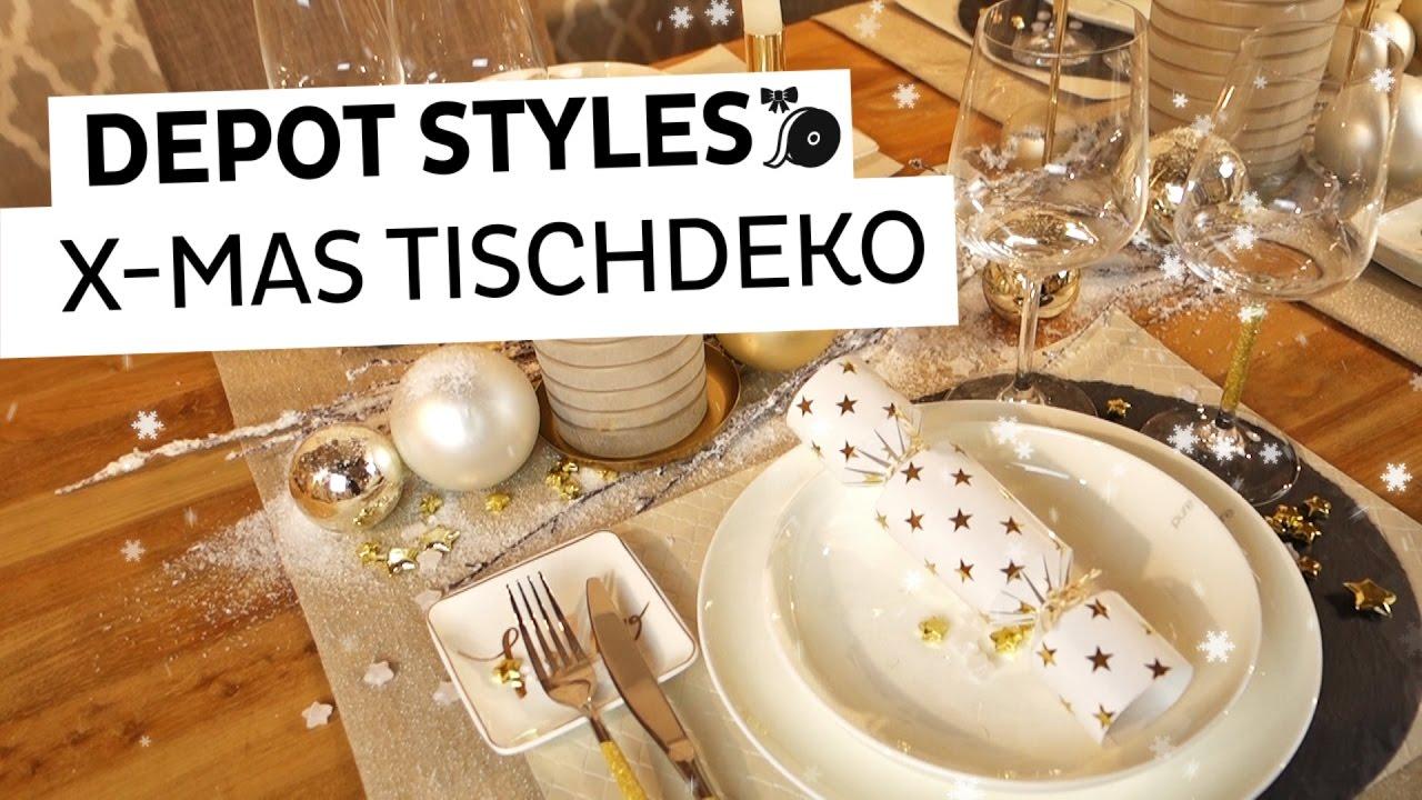 DEPOT Styles  Goldene Tischdeko zu Weihnachten  YouTube