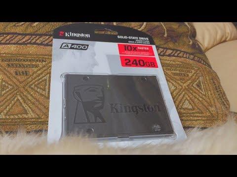 Ускоряем ноутбук или ПК в 10 раз! SSD Kingston A400 на 240Gb