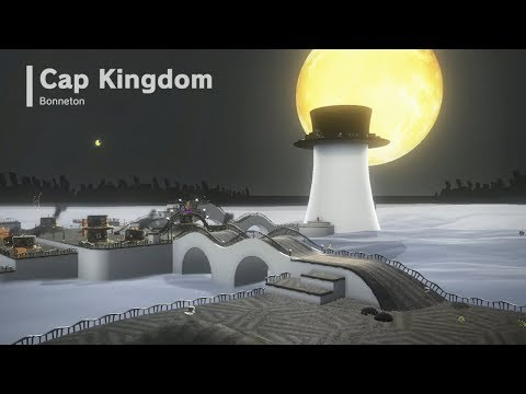Super Mario Odyssey | Cap Kingdom - All Power Moons & Top Hats