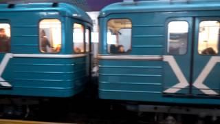 Станция метро Технопарк, Электропоезда 81-717 и 81-717.5 + Посадки нет!