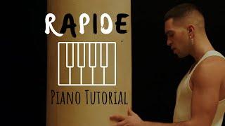 Gambar cover Mahmood - Rapide | Tutorial per pianoforte (con spartito)