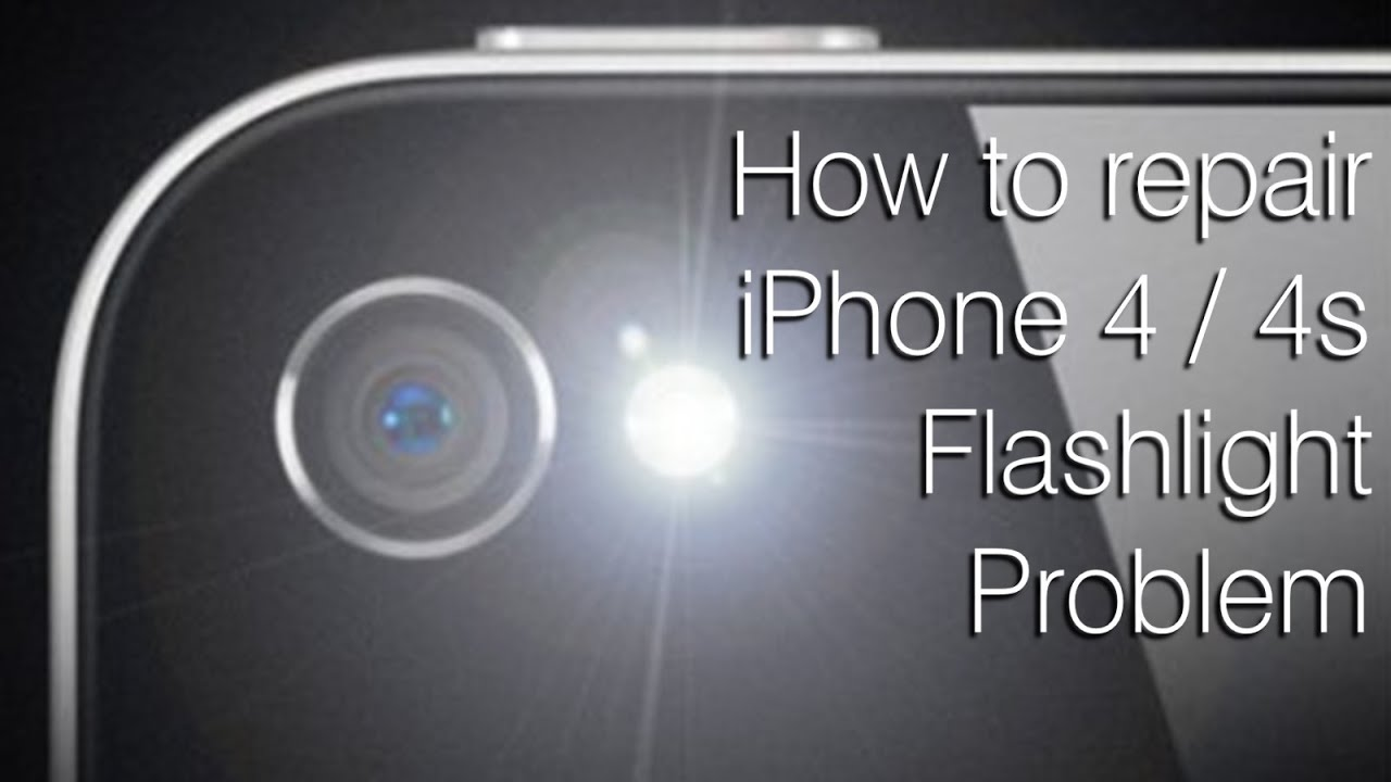 How to fix iPhone flash light