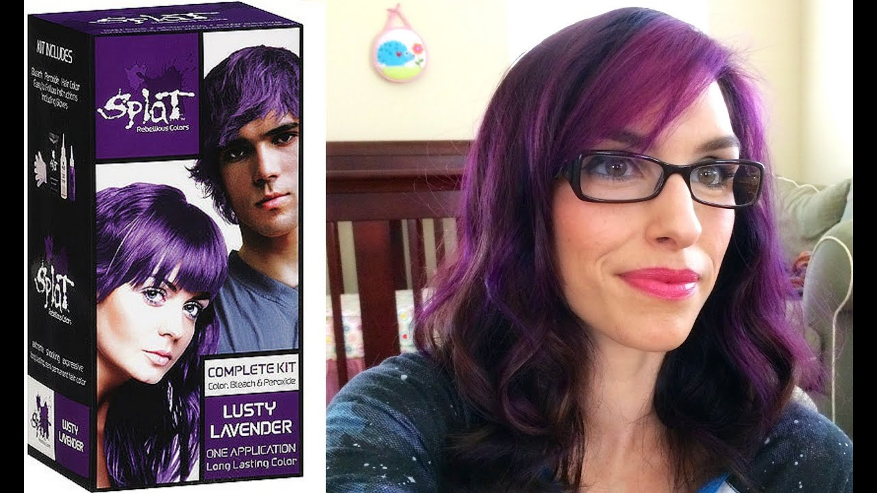 Splat Hair Dye Review And Demo Y Lavendar