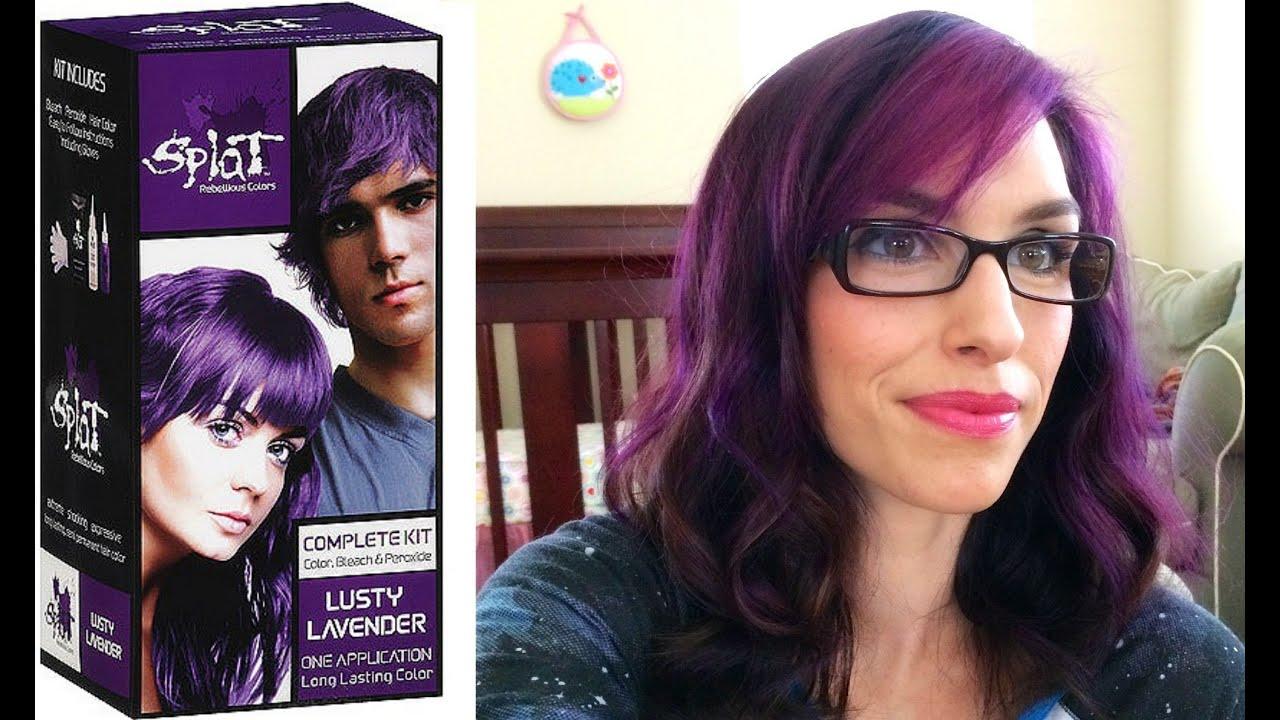 splat hair dye and demo
